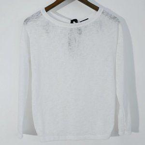 💰3/20$💰BERSHKA white sheer long sleeves sweater